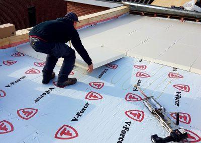 Renovatie van plat dak met EPDM
